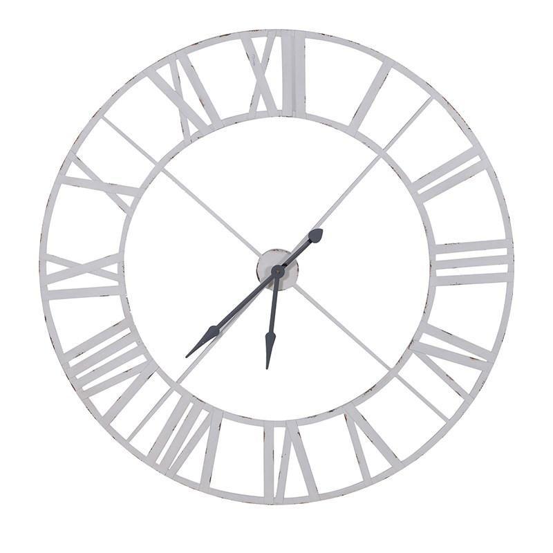 Giant 4ft White Metal Skeleton Wall Clock Fashion In 2019