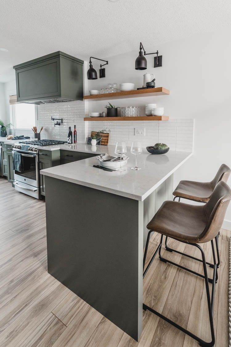 Fabulous Modern Olive Green Kitchen Before After Stools For Cjindustries Chair Design For Home Cjindustriesco