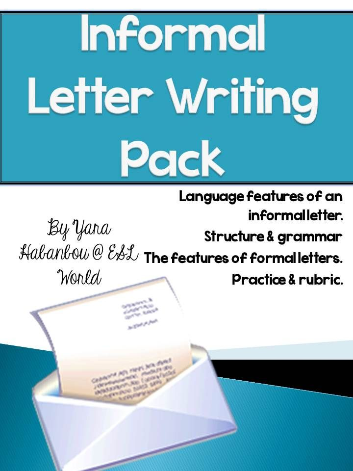 Informal Letters  Guided Writing Activities Esl  Students