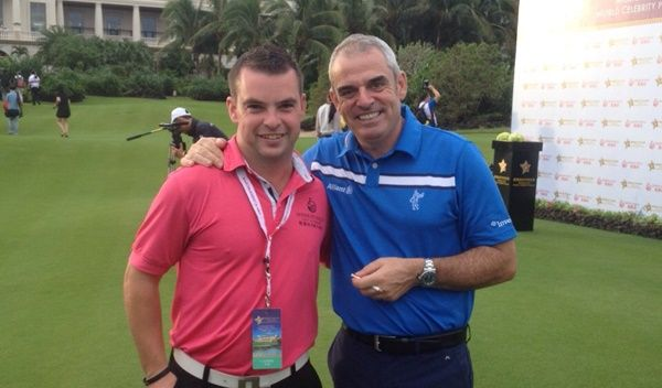 Proud of my nephew Brian O'Donovan who is teaching golf to some of the richest people in the world in China. Paul McGinley here in this picture with him obviously doesn't need that