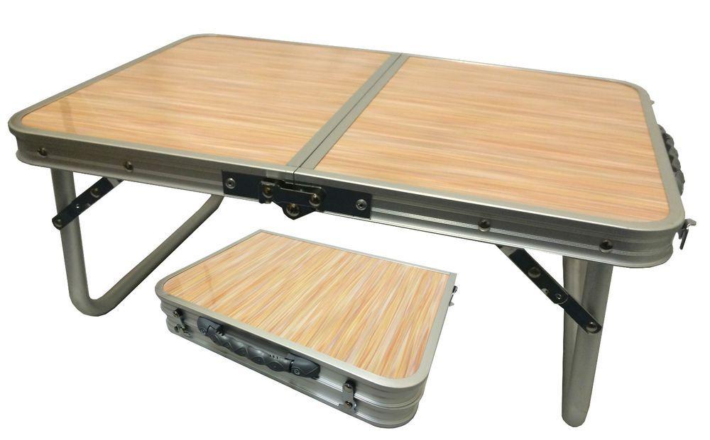Aluminium Folding Portable Low Camping Picnic Table Lap Top Tray Caravan Pc1836 Camping Picnic Table Camping Furniture Camp Furniture Plans