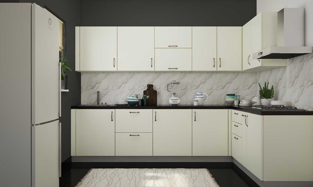 Shag L Shaped Kitchen  L shape kitchen layout, Kitchen cabinet