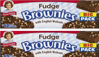 Little Debbie Fudge Brownies With Walnuts Family Pack Coupon In 2020 Fudge Brownies Walnut Brownies Walnuts
