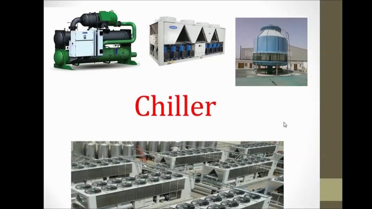 Chilled Water System Basics in Hindi II Air Cooled Chiller