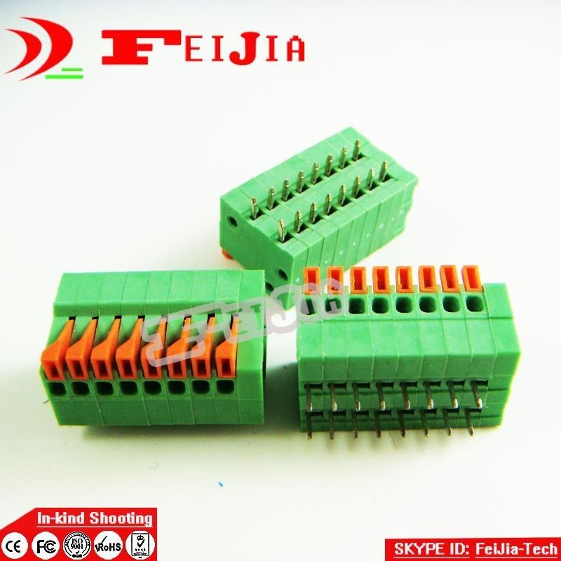 20pcs/lot 141r-2.54-8p 8-pins pcb veeraansluitklem connector 2.54mm toonhoogte rohs gratis verzending