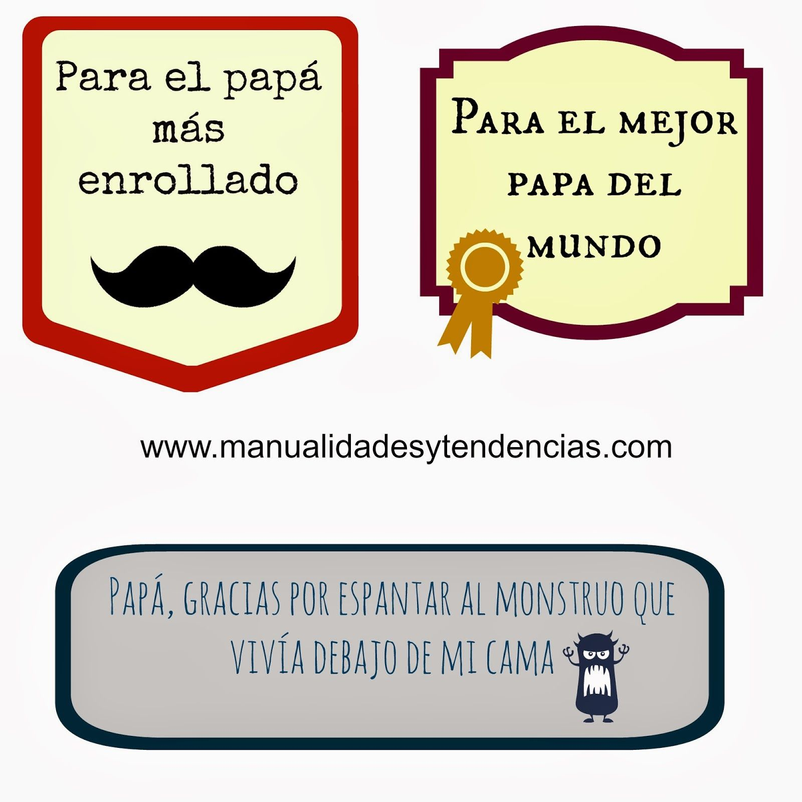 Imprimibles Gratis Etiquetas De Regalo Para El Dia Del Padre