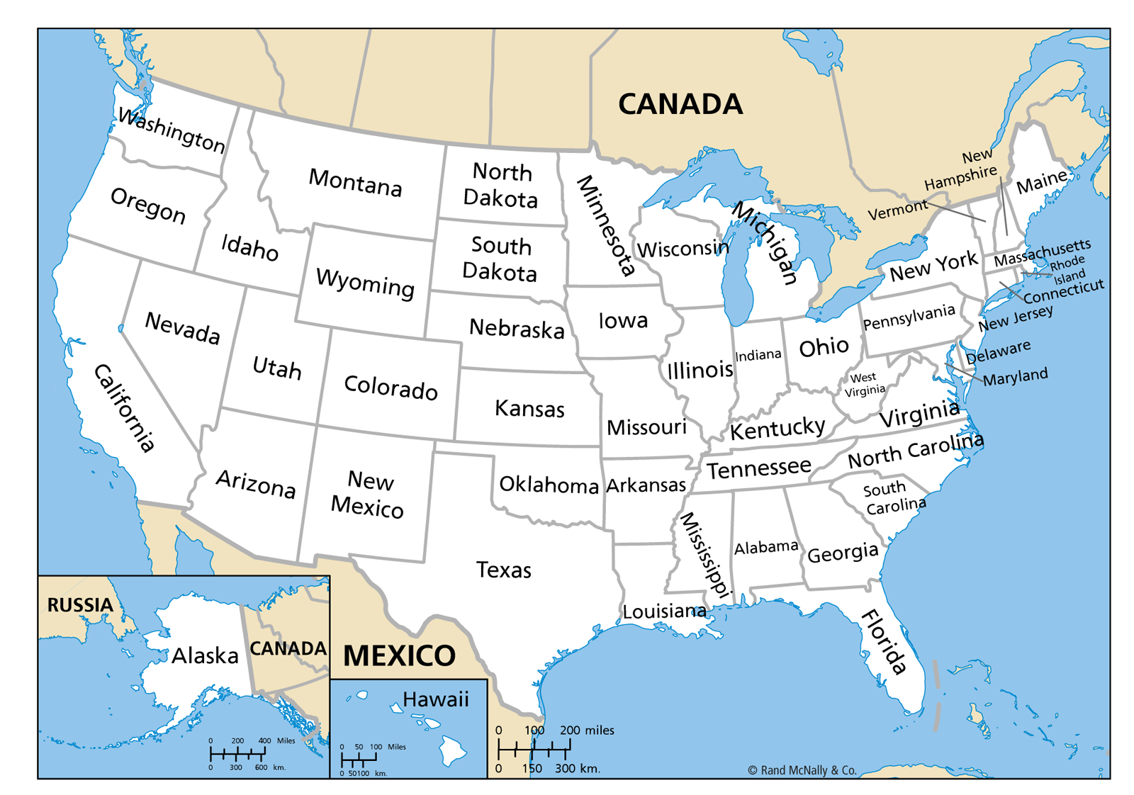 Us Maps With State Names United States Outline Map With State - Map of us by state