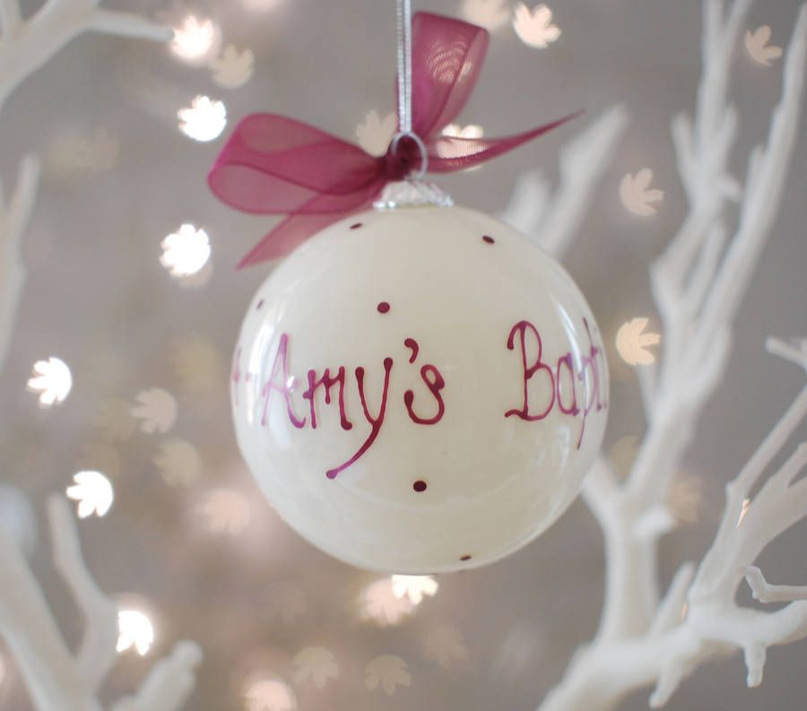 Personalised Christmas Bauble | Personalised christmas baubles ...