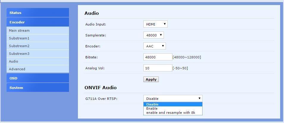 H 265 / HEVC H 264 / AVC SDI WIFI Encoder stöd HD-SDI 3G-SDI stöd