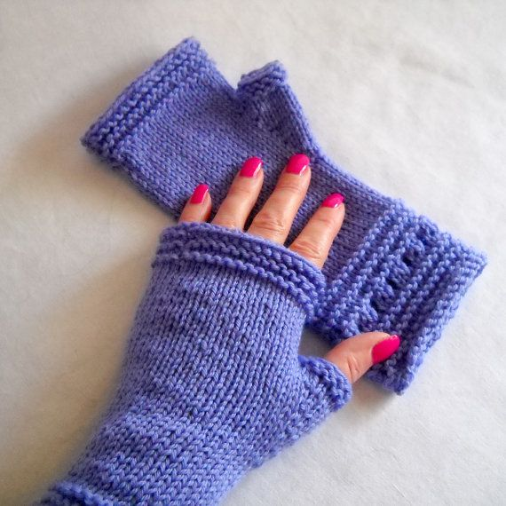 Knit Pattern Easy Elegant Hand Knit Fingerless Gloves Instant