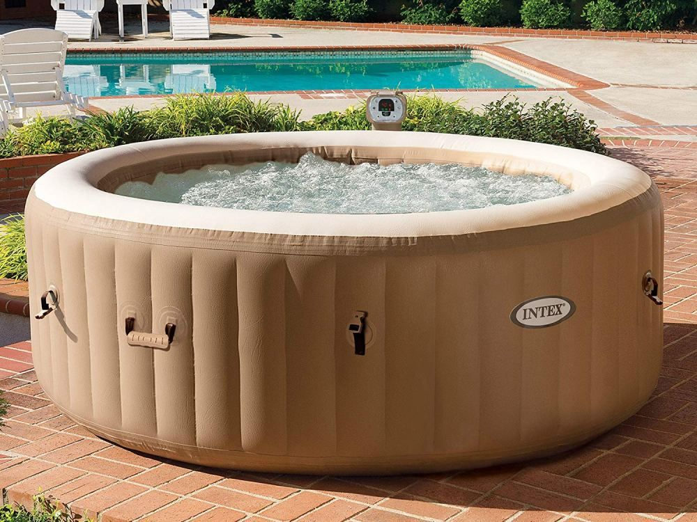 If You Don T Have Space For A Pool Consider Installing One Of These Outdoor Spas Instead Inflatable Hot Tubs Best Inflatable Hot Tub Portable Hot Tub