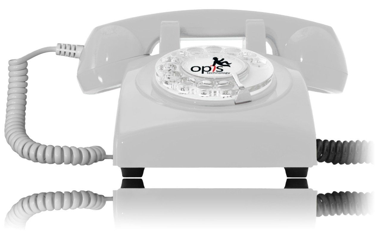 Opis 60s Cable Designer Retro Phone Rotary Dial Telephone Style