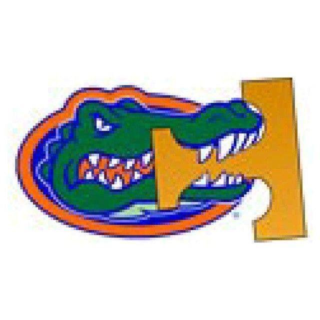 Chompin on the big orange T Florida gators football