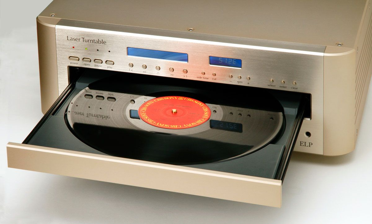 This single invention could mean a comeback for our beloved vinyl collection–as the new ELP Laser Turntable plays records without using a
