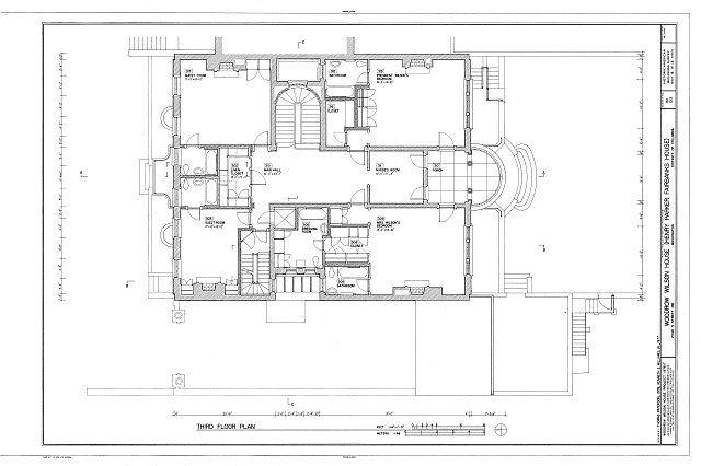 Habs Dc Wash 220 Sheet 6 Of 13 Woodrow Wilson House 2340 South S Street Northwest Washington Di Woodrow Wilson House Luxury House Plans Historic Homes