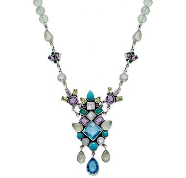 """Nicky Butler Drop Dangle Gemstone Necklace---All I can say, after seeing this necklace is, """"Nicky Butler, will you marry me?"""""""
