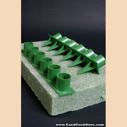 1 Handy Hold Point Candle Holders Green Pkg 36 Candle