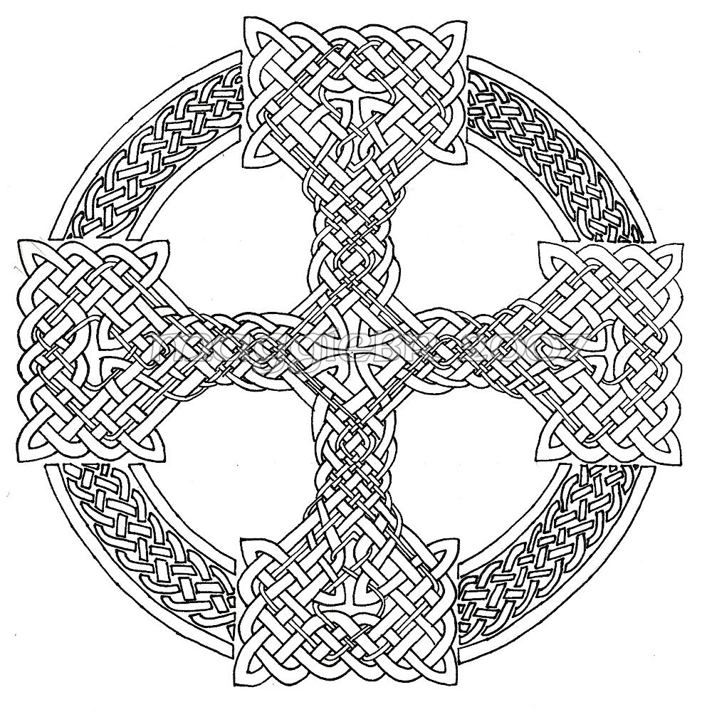 Celtic Cross Lineart By Maggiebr Deviantart Com On