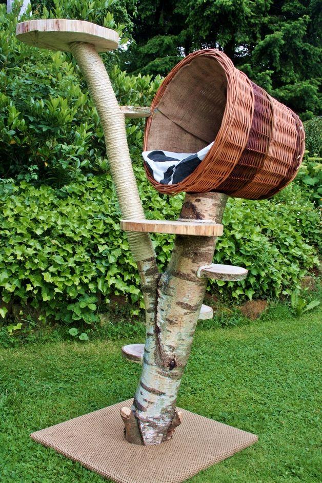 katze schlafpl tze kratzbaum katzenbaum katzenh hle natur katze ein designerst ck von. Black Bedroom Furniture Sets. Home Design Ideas
