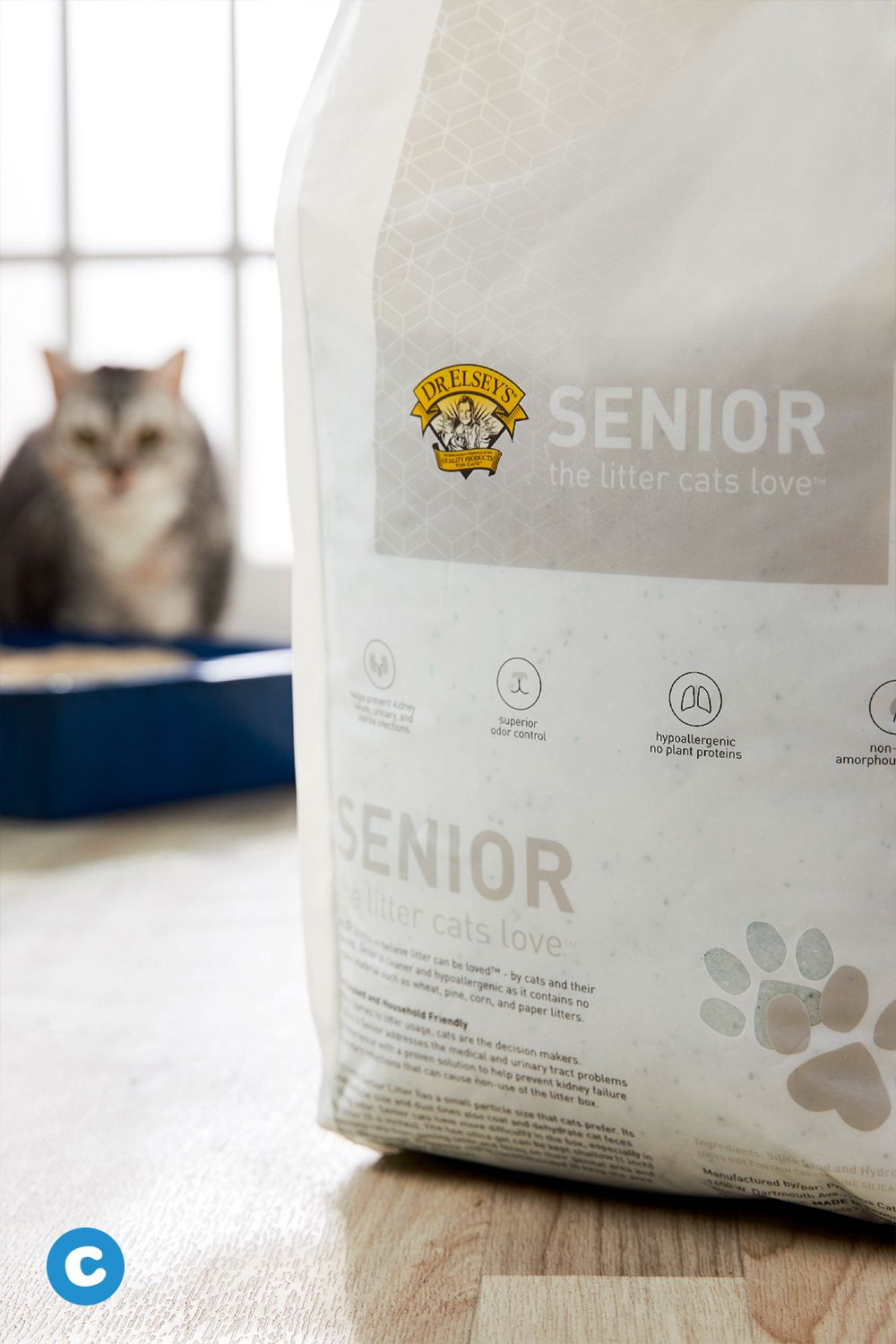 Dr Elsey S Precious Cat Senior Litter Absorbs Urine And Odor On Contact And Traps It Inside The Crystals To Keep A Cat S Genital Area C Litter Cats Pet Parent