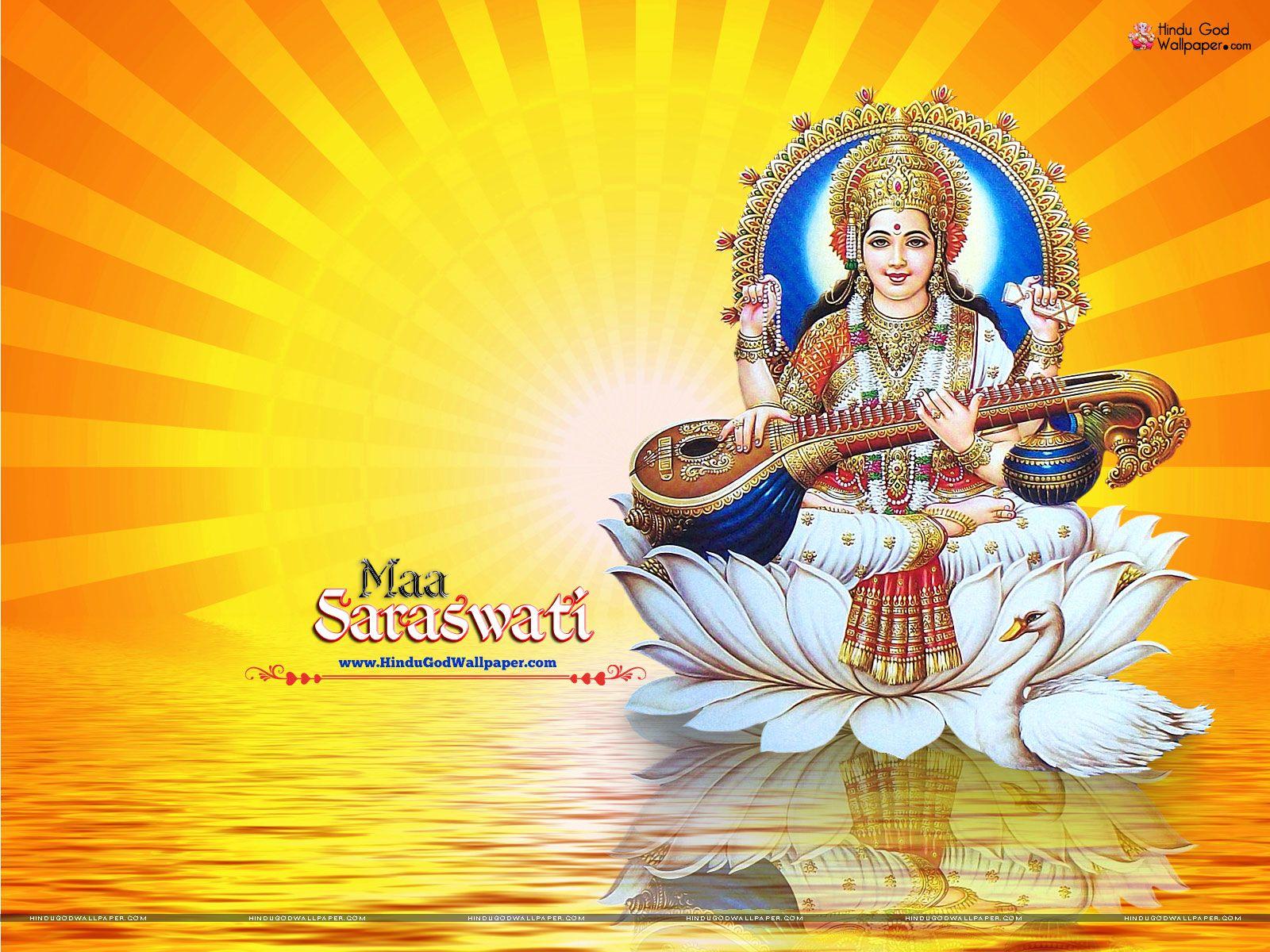 Maa Saraswati Diosa Del Conocimiento Saraswati Picture Wallpaper Saraswati Photo