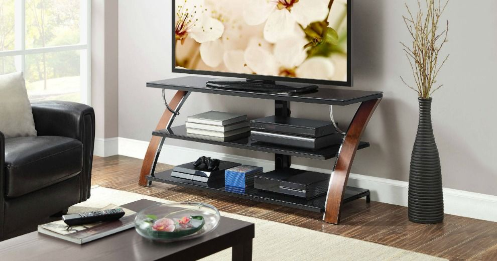 Whalen Payton Brown Cherry 3in1 TV Stand Flat panel tv