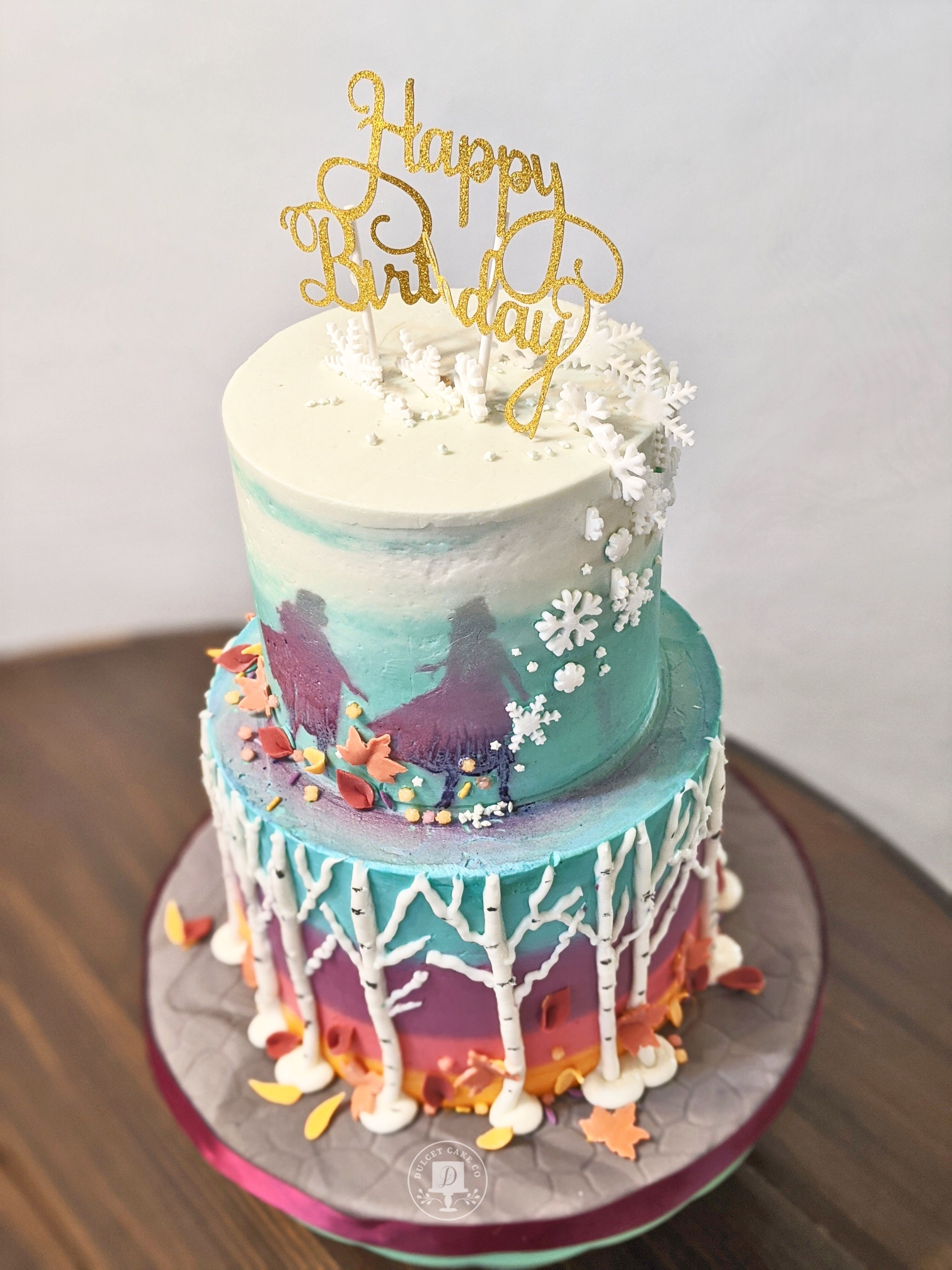 Enchanted Forest Cake Elsa And Anna Cake In 2020 With Images
