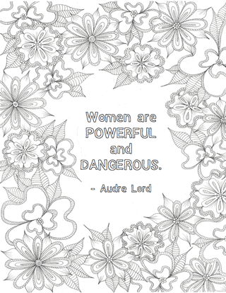 Free Printables: Feminist Colouring Pages | Galentine\'s Day ...