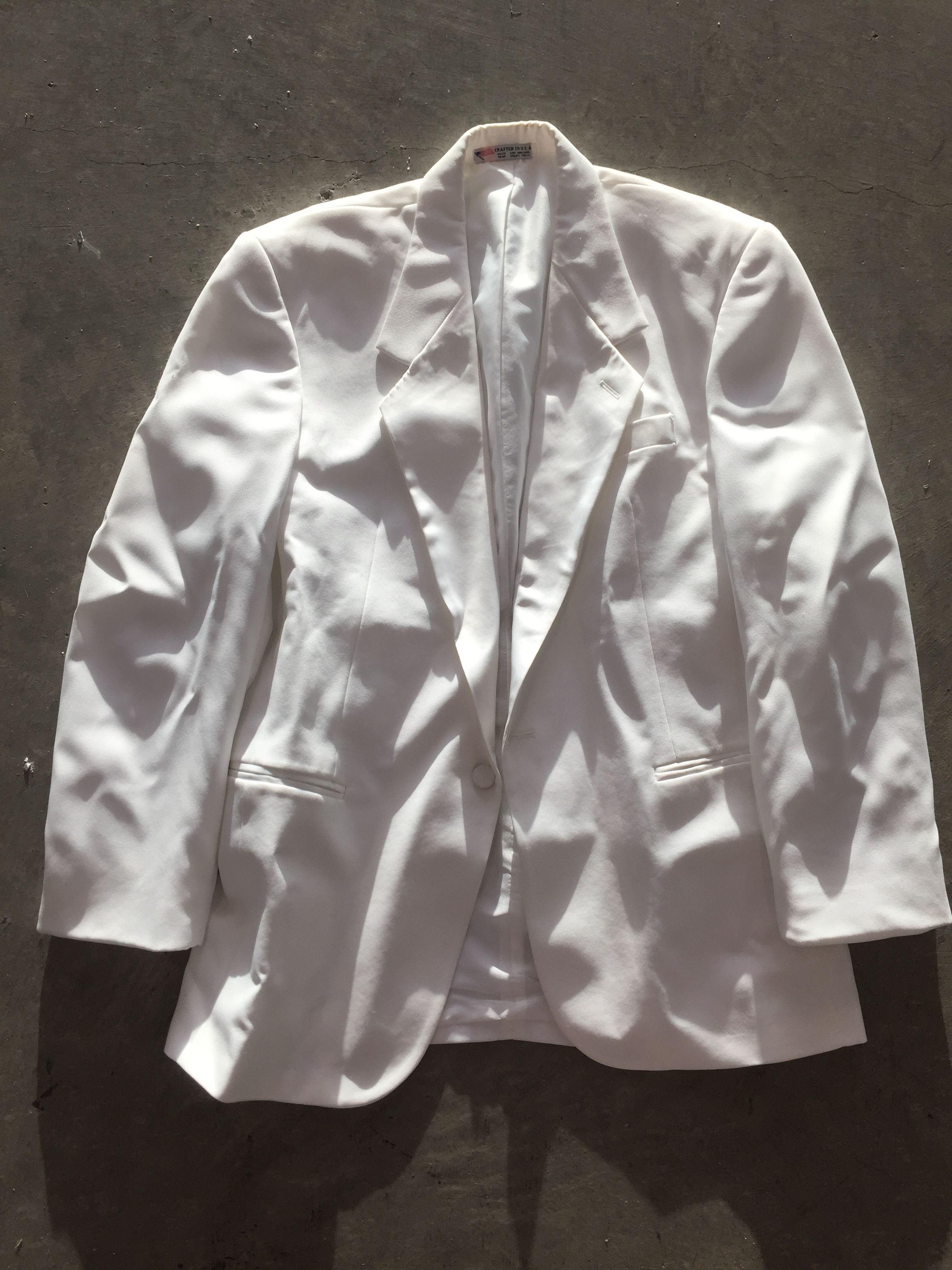 1 white suit jacket #LAUnboundWhite #LAUnboundGuys