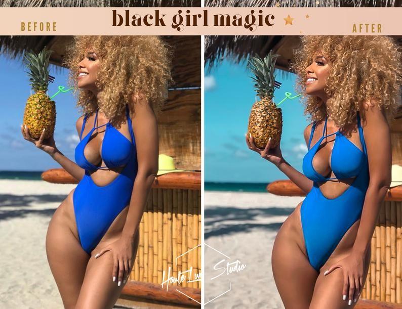 8 Black Girl Magic Presets  Melanin Poppin Presets