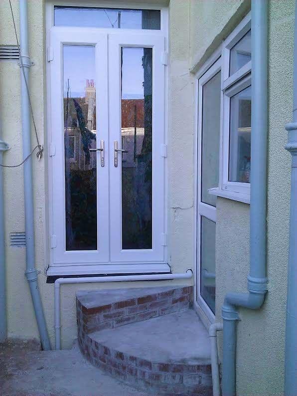 White Upvc French Doors Top Light Window French Doors Exterior Upvc French Doors French Doors Patio Exterior
