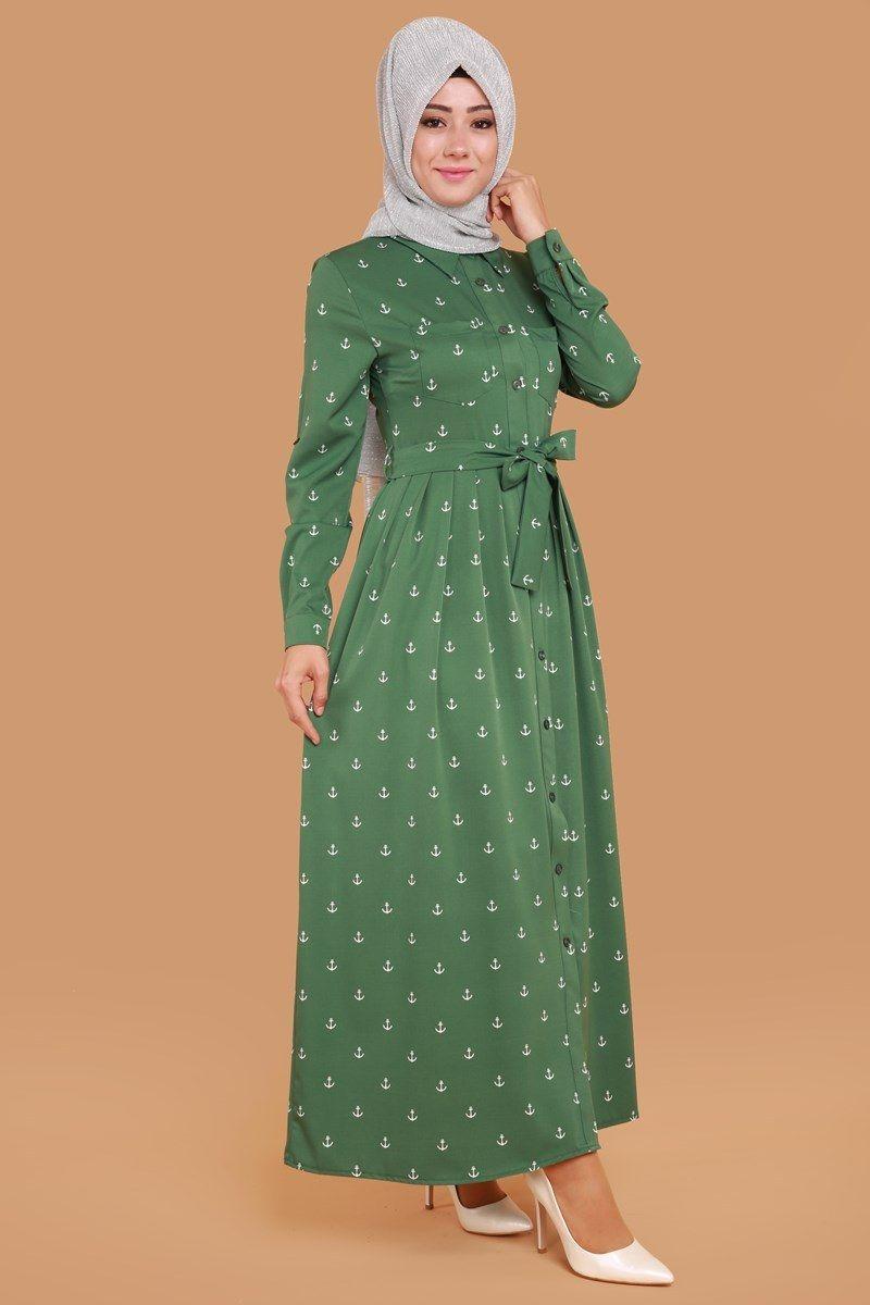 Bedavadan Biraz Pahali Tuana Onden Dugmeli Elbise Haki Urun Kodu Zmn2192 S 29 90 Tl Elbise Elbise Modelleri Kiyafet