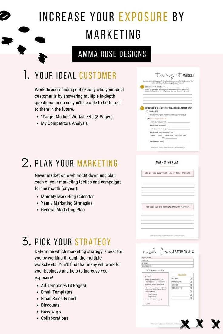 Business Planner Printable Business Planner PDF Business