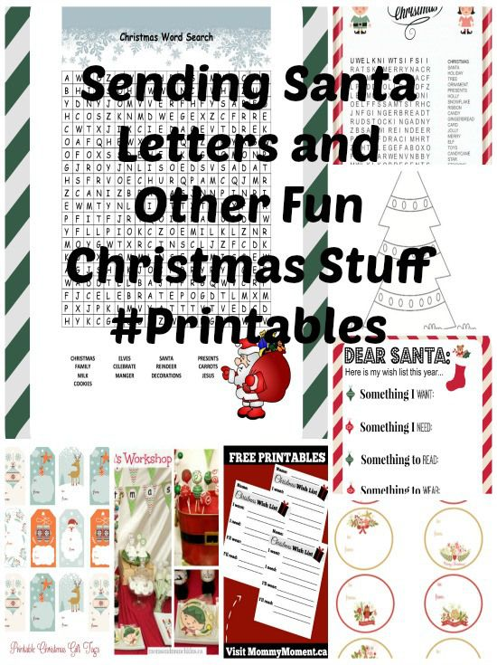 Sending Santa Letters And Other Fun Christmas Stuff Printables