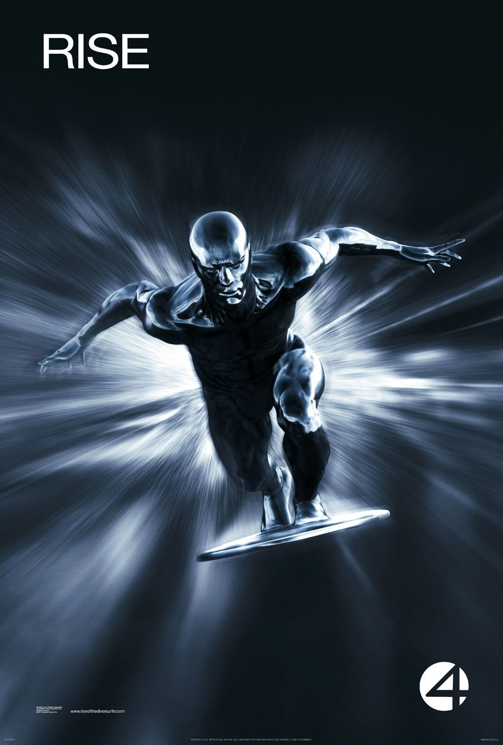Fantastic Four Rise Of The Silver Surfer Extra Large Movie Poster Image Internet Movie Poster Awa Silver Surfer Wallpaper Silver Surfer Movie Silver Surfer