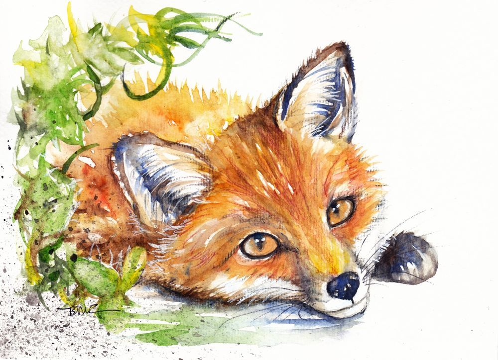 Original Watercolour Painting by Be Coventry,Animals ...