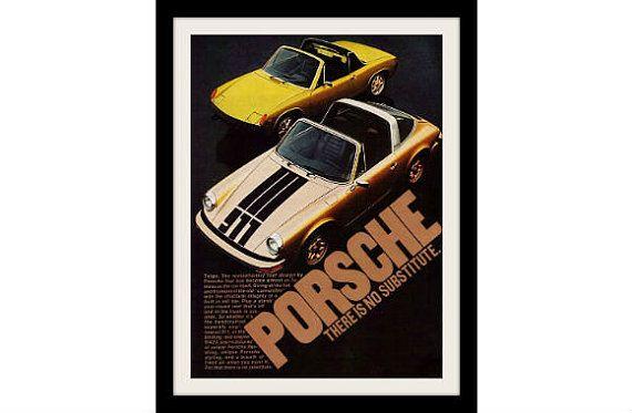 PORSCHE 911 & 914 TARGA 1974 Photo Ad Vintage by StillsofTime, $6.97