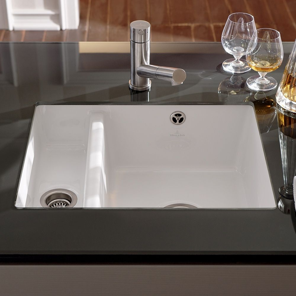 attractive Black Ceramic Undermount Kitchen Sinks #6: white undermount kitchen double sinks - Google Search