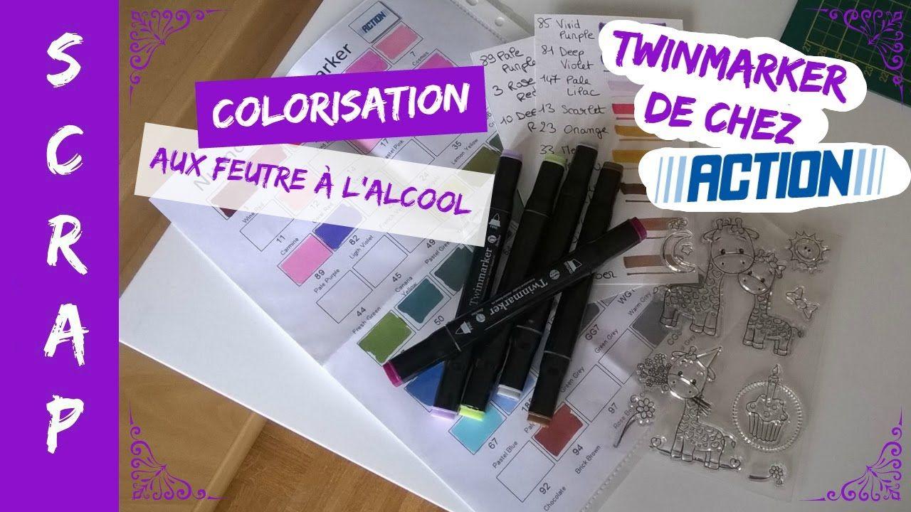 Scrap Colorisation Aux Feutres A L Alcool Twinmarker D Action