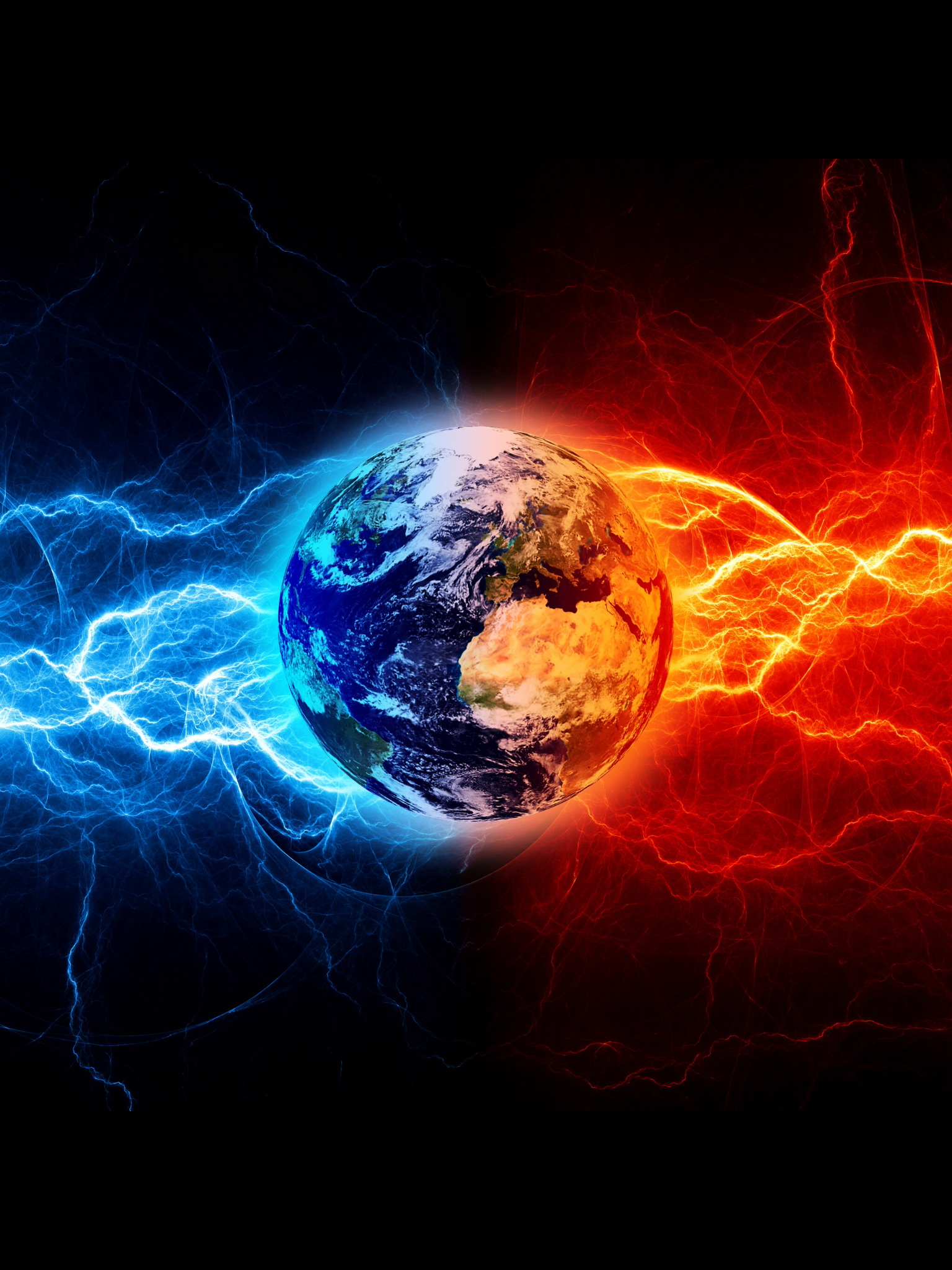 Fire Ice Fire And Ice Fire And Ice Wallpaper Earth