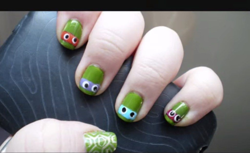 25 Ultra Geeky Nail Art Ideas | How to beauty | Pinterest | TMNT