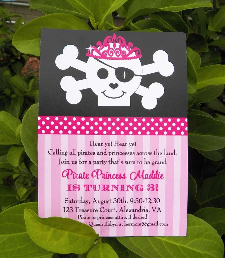 Pirate/ Princess Birthday Party Ideas | Princess birthday, Party ...