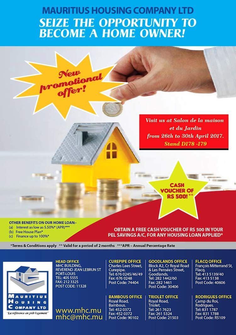 Mauritius Housing Company Ltd New Promotional Offer Pel Voucher Tel 405 5555 Company Mauritius Voucher