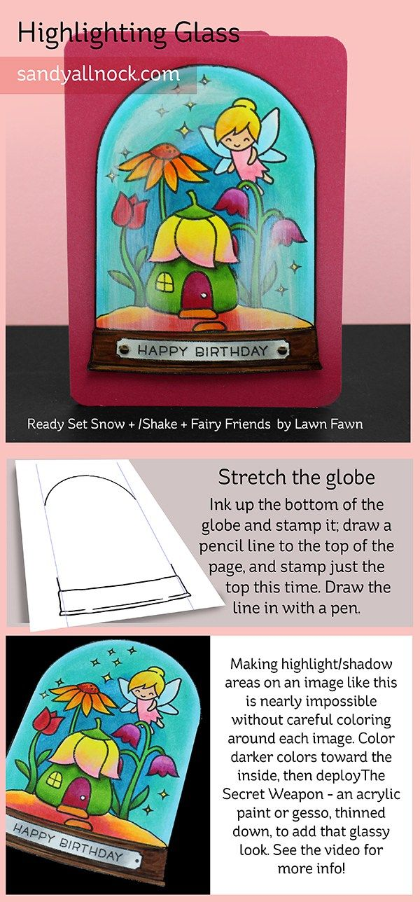 The secret weapon for coloring amazing glass – ft Lawn Fawn (+ Giveaway!) (Sandy…