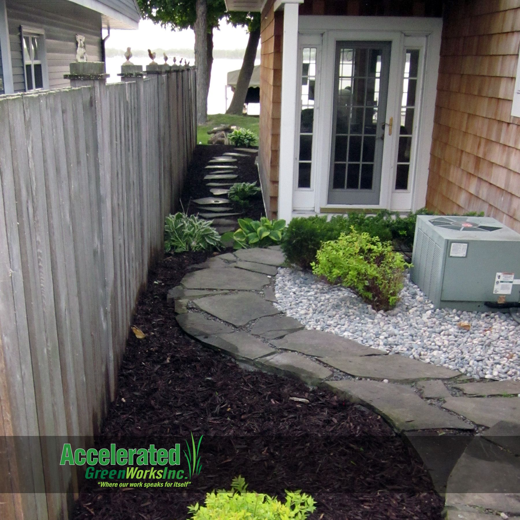 Pin By Accelerated Green Works Inc On Landscaping Design Ideas Garden Shrubs Outdoor Landscaping Curb Appeal Garden