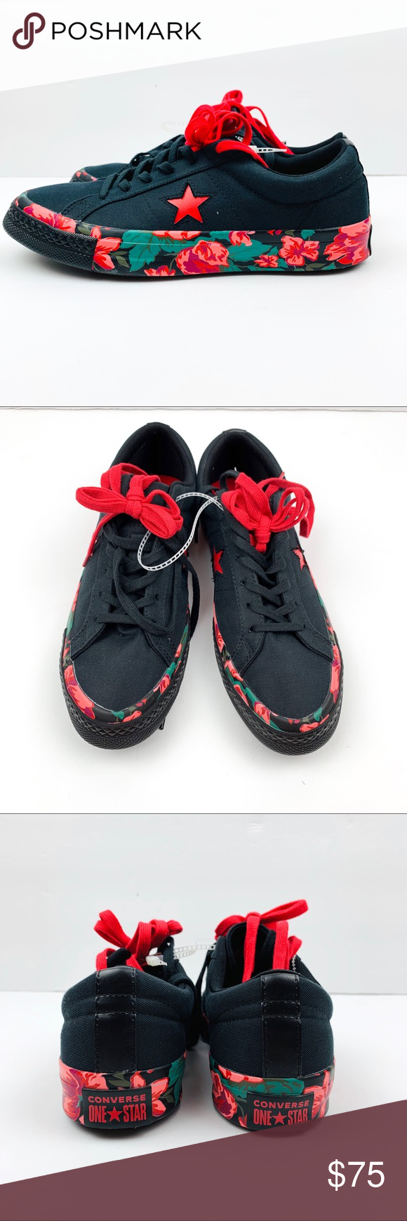 Converse One Star Floral Ox black res