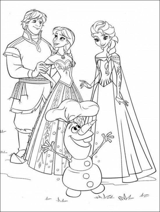 Prelepi Crtež Frozen Coloring Pages Disney Coloring Pages