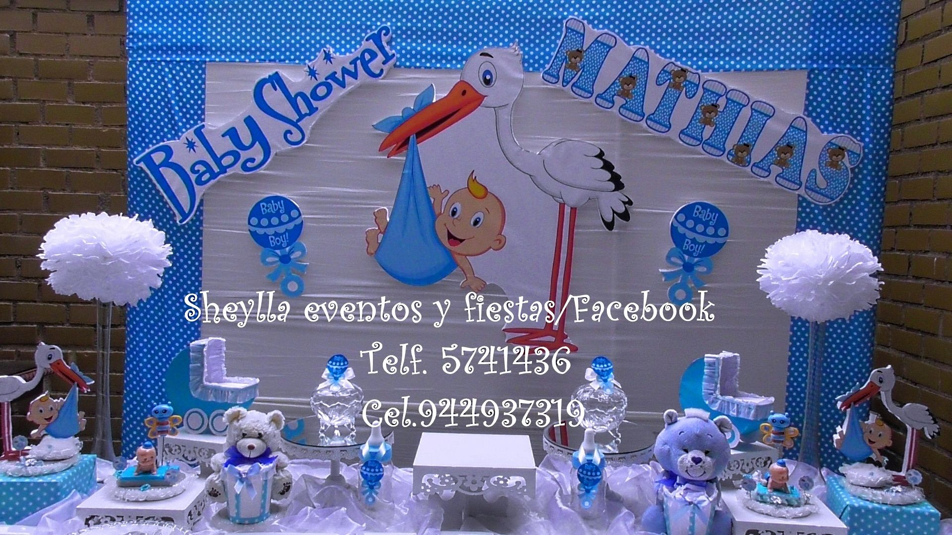 Decoracion baby shower ni o baby shower bautizo - Baby shower decoracion ...