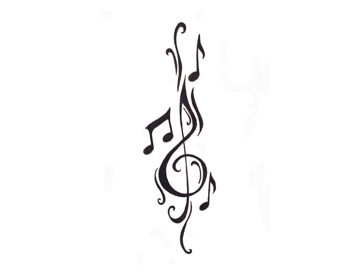 clef and notes tattoo love this idea think i might get