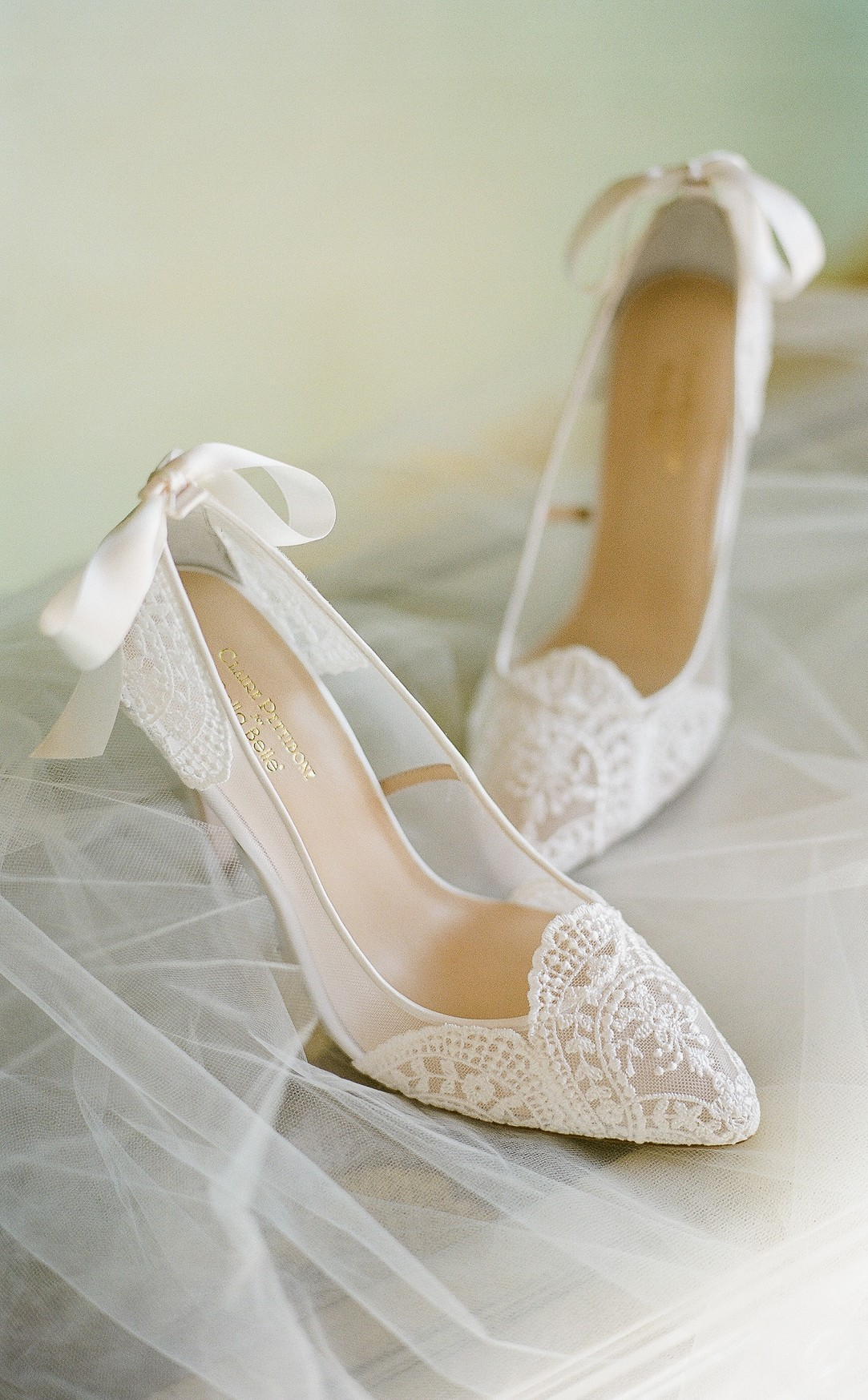 Claire Pettibone For Bella Belle Giselle Ivory Lace Wedding Shoes With Embroidered Tulle Silk Stil Summer Wedding Shoes Wedding Shoes Heels Wedding Shoes Lace